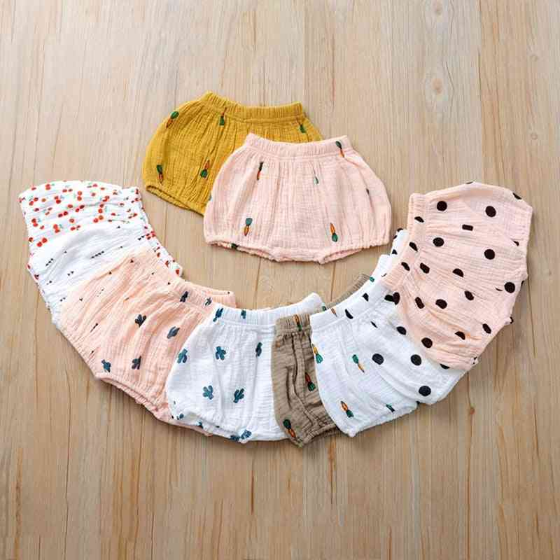 Newborn Fold Bloomers Pattern Triangle Shorts, Baby Trousers Pp Clothes