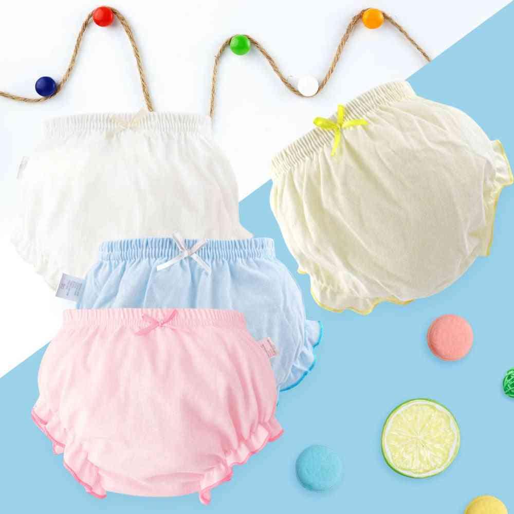Cotton Underwear Panties, Baby Infant Fashion Bow Lace Underpants