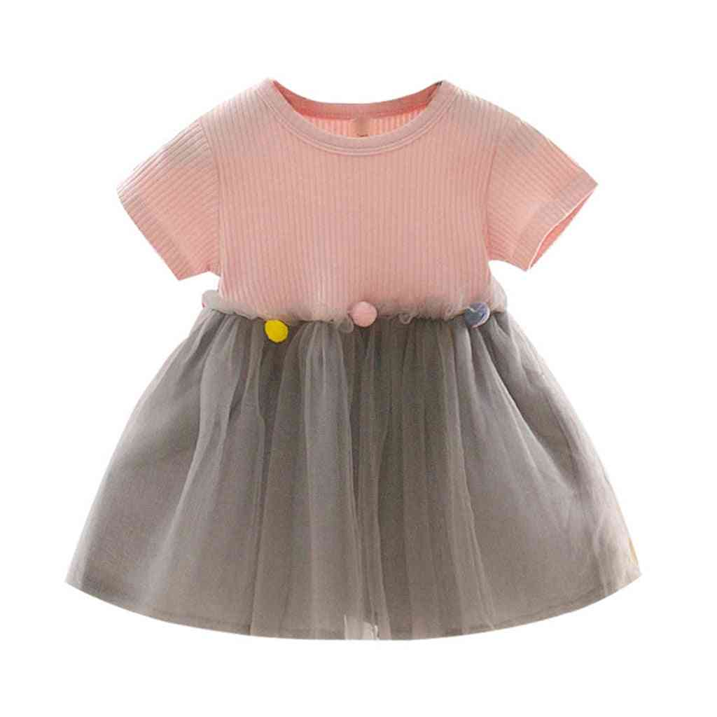 Patchwork Tulle Casual Clothes Princess Dresses