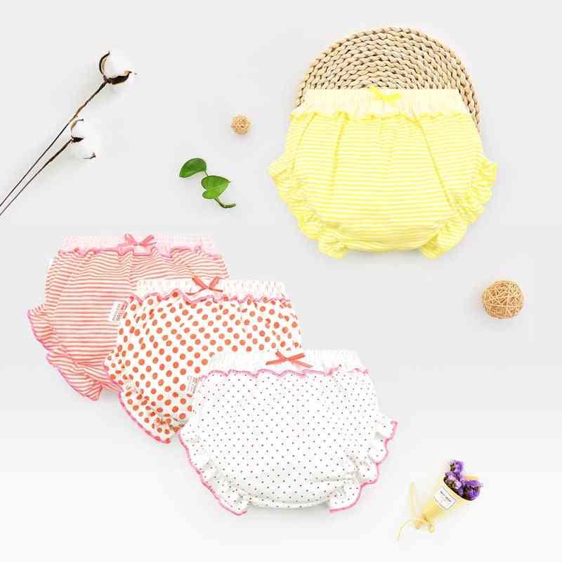 Pure Cotton Baby Panties, Underwear Boy Briefs Fashion Bow Dot Stripe Short Underpants