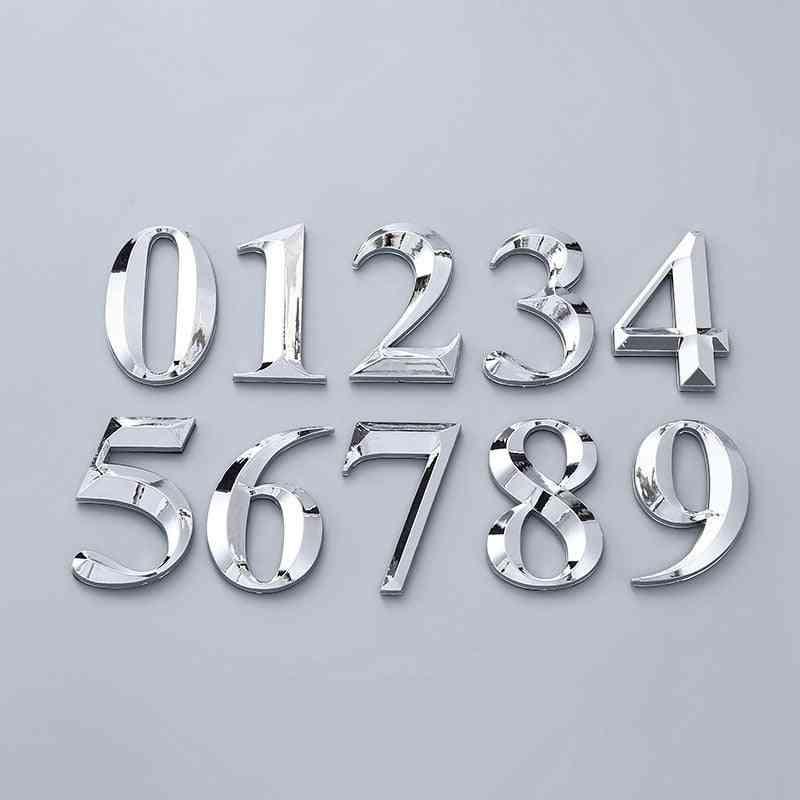 3d Self Adhesive Door Numbers For Adress