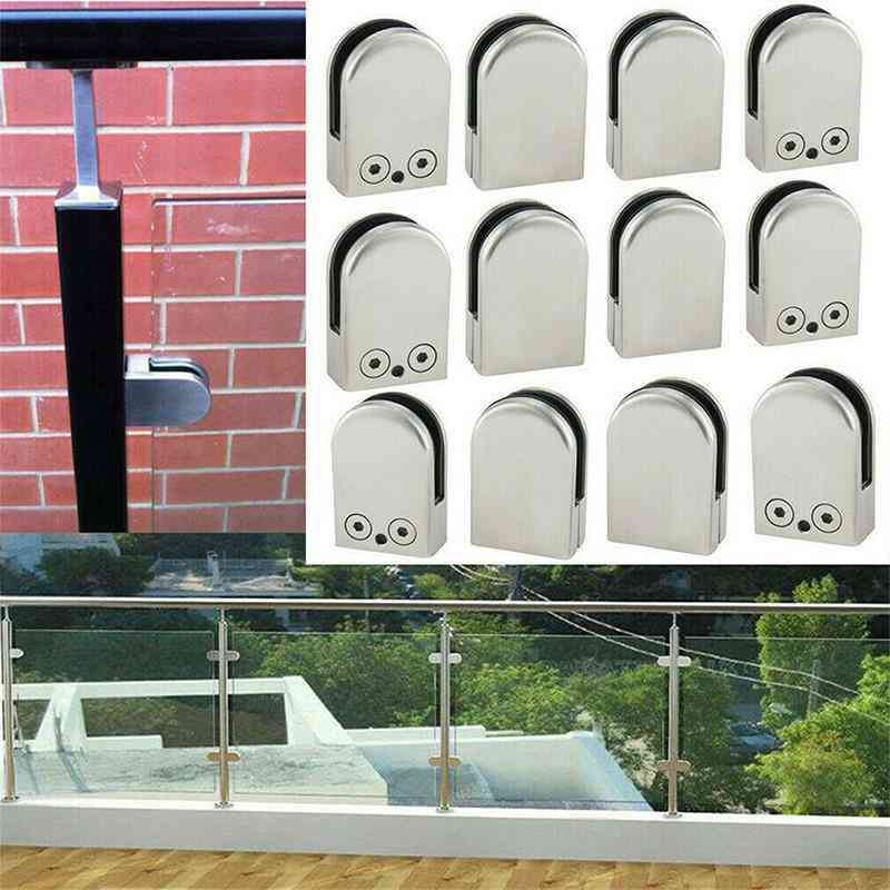 Stainless Steel Glass Clamp Holder For Tables/window/handrail/staircase