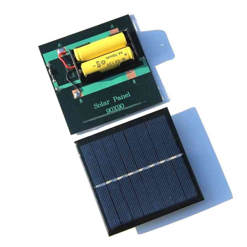 1w Solar Panel With Base For Aa Battery