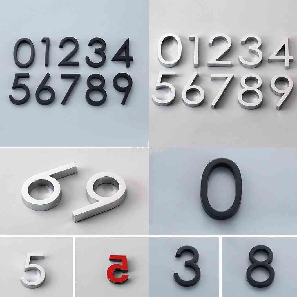 Modern Self Adhesive Door Number Stickers