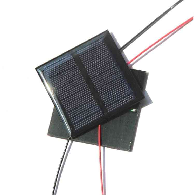 0.6w 5.5v Polycrystalline Solar Panel Charger With 15cm Cable