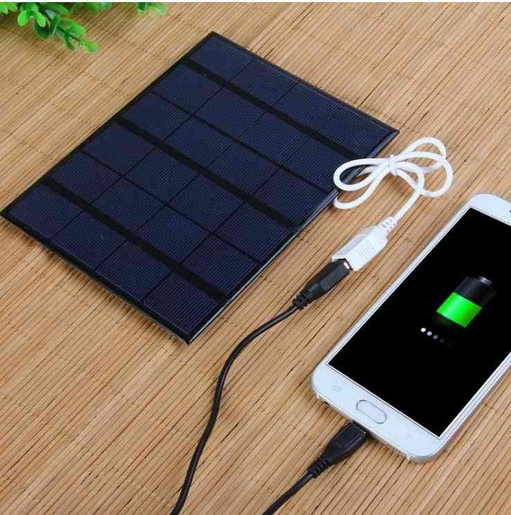 3.5w Solar Polycrystalline Cell Charger - Usb Mobile Charger / Power Bank