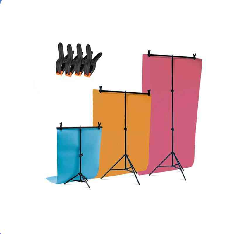 Professional Photography T-shape Backdrop Stands With Clamps
