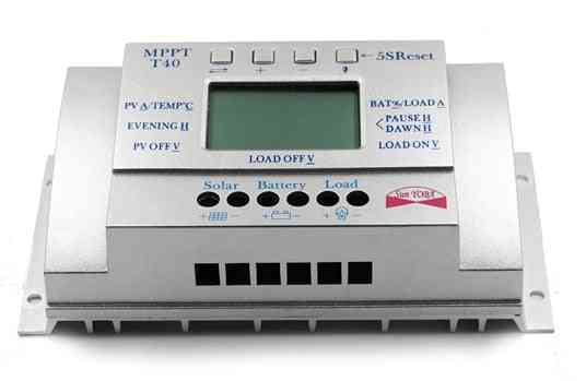 40a Solar Charge Regulator With Lcd Display