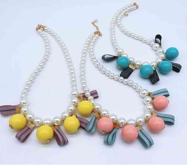 Children's Necklace, Pearl Big Pendant Jewelry