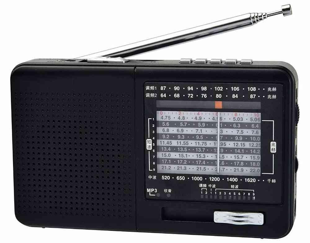 Fm Radio Am Sw Portable Shortwave Radio, And Mp3 Player