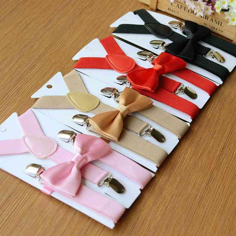 All Matching Fashion Formal Suspender And Bow Tie Set Tuxedo Wedding Suit For Baby /