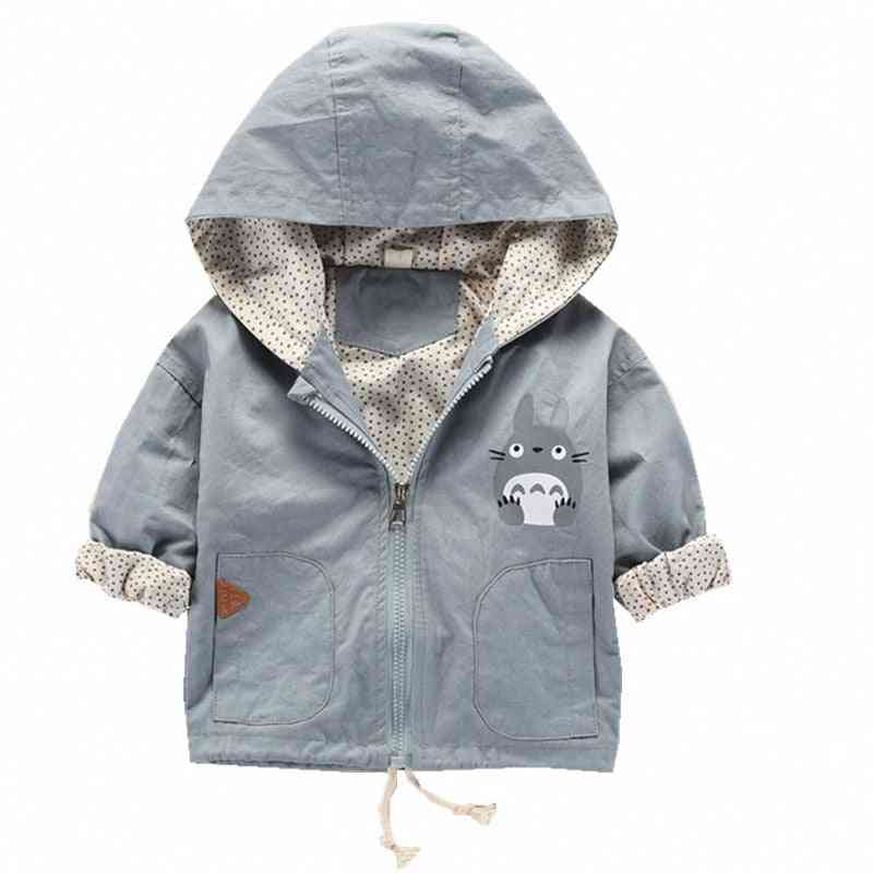 Autumn Baby Hooded Coat Jacket For Cartoon Long Sleeve Pattern Girl Clothes