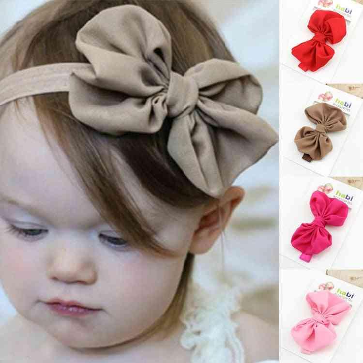 Baby Headband, Ribbon Handmade Girl Newborn Bows
