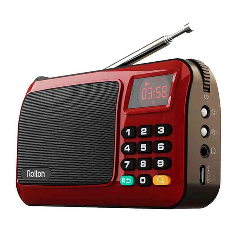 Mini Fm Portable Radio Speaker And Mp3 Music Player