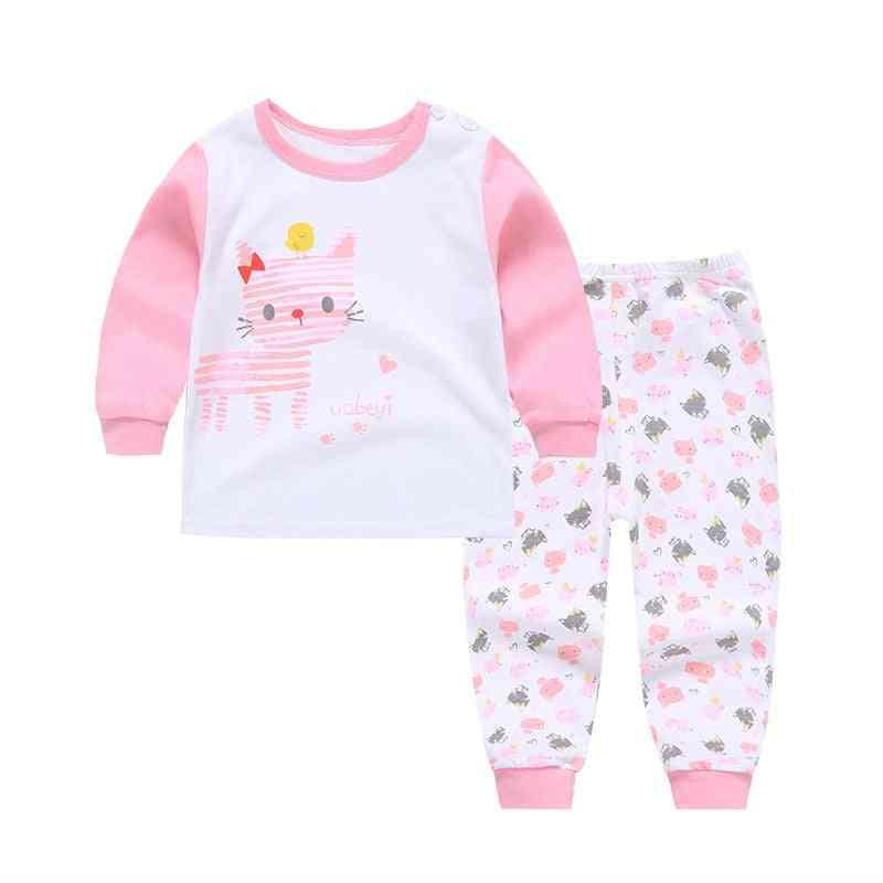Boys / Pajama, Cartoon Print Long Sleeve Cute T-shirt Tops With Pants