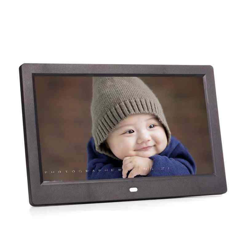 10 Inch Led Screen, Digital Photo Frame With Power Adapter And Remote Control