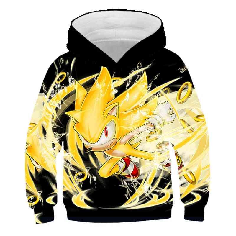Sonic The Hedgehog Printed Sweatshirt For/girls