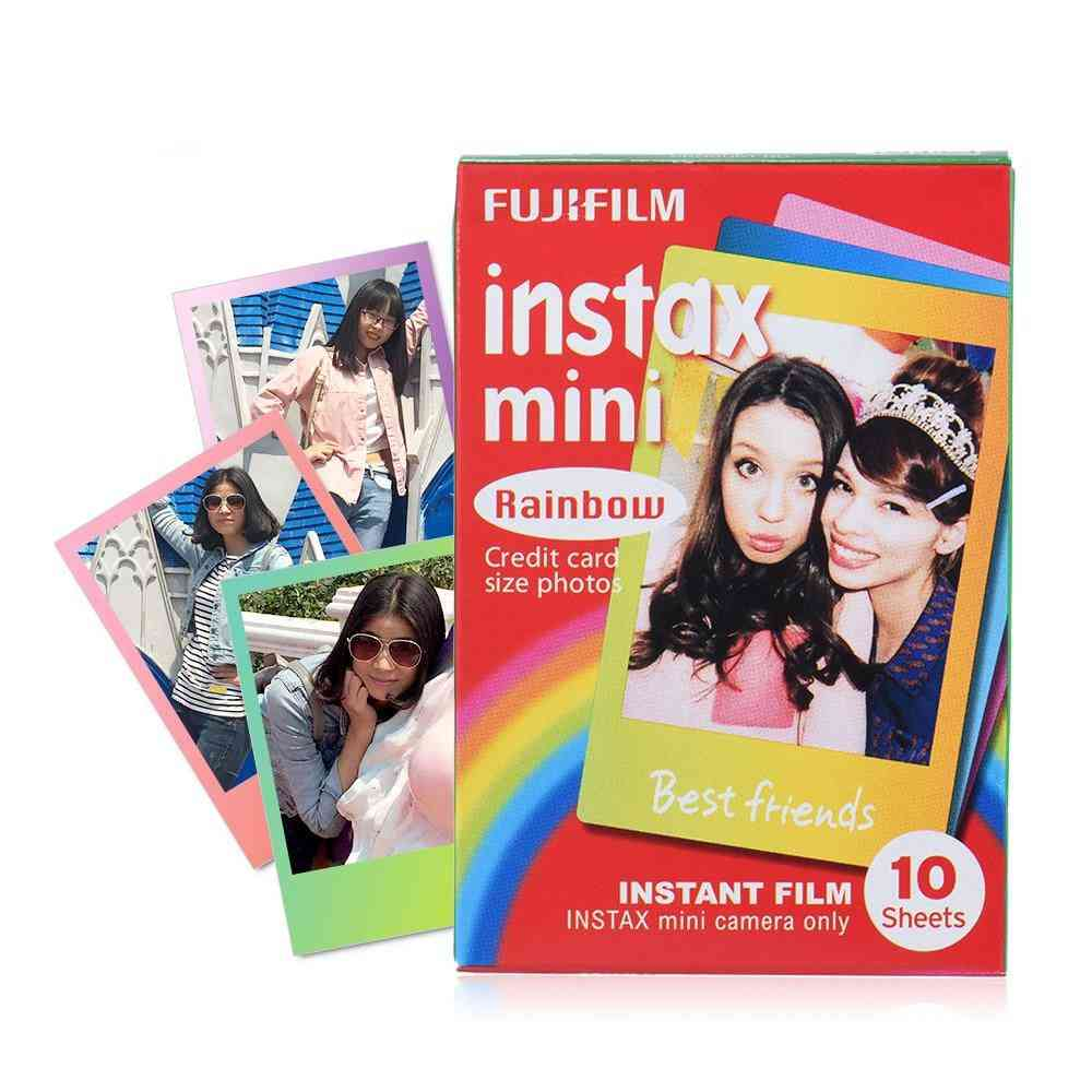 Instax Mini Camera Film With Colorful Photo Edge