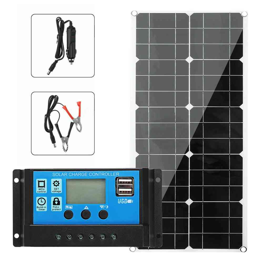 Solar Panel Kit, Battery Charge & 30a Controller Caravan Charger