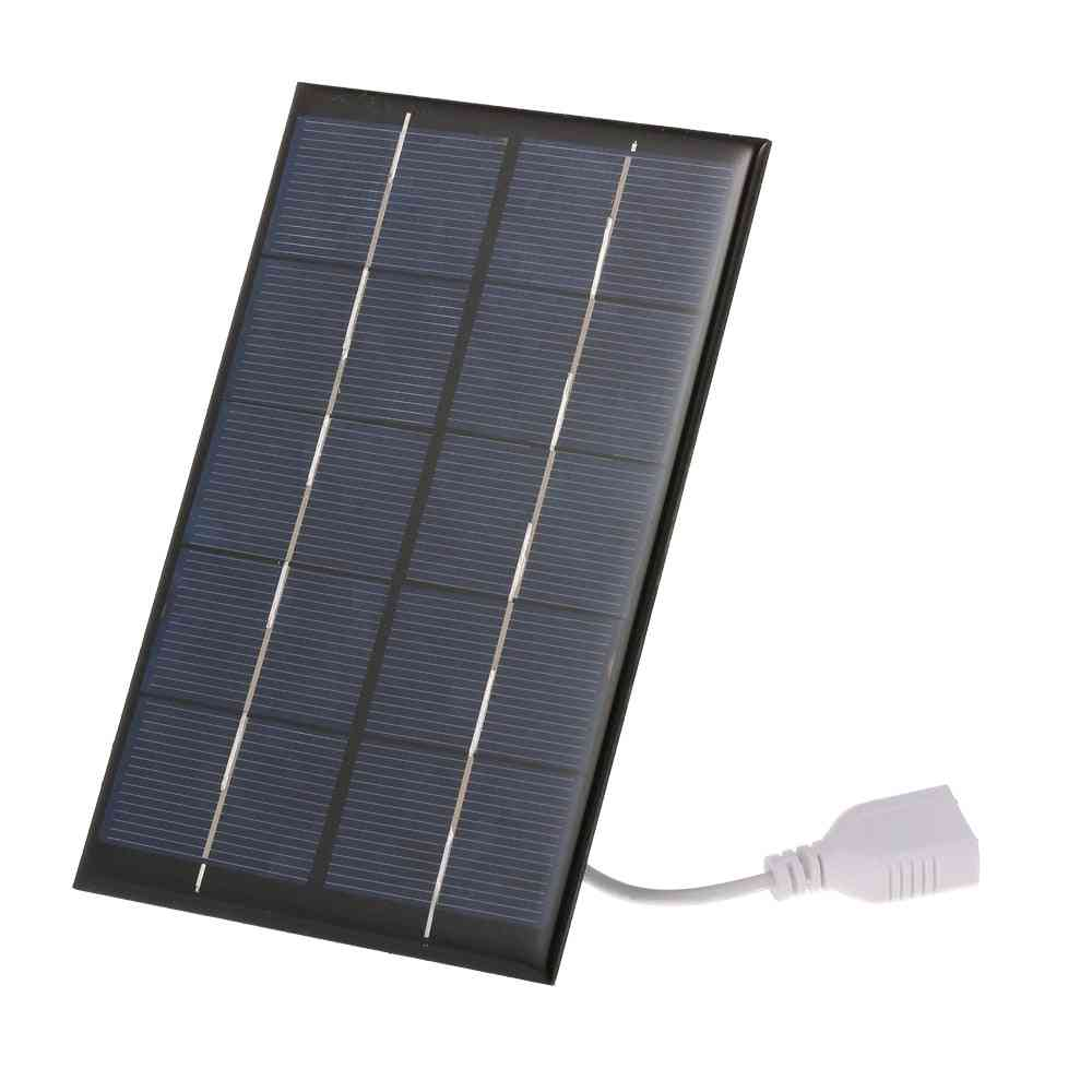 Usb Solar Panel Outdoor 2.5w 5v Solar Charger Pane Climbing Fast Charger Polysilicon Solar Generator  (5v)