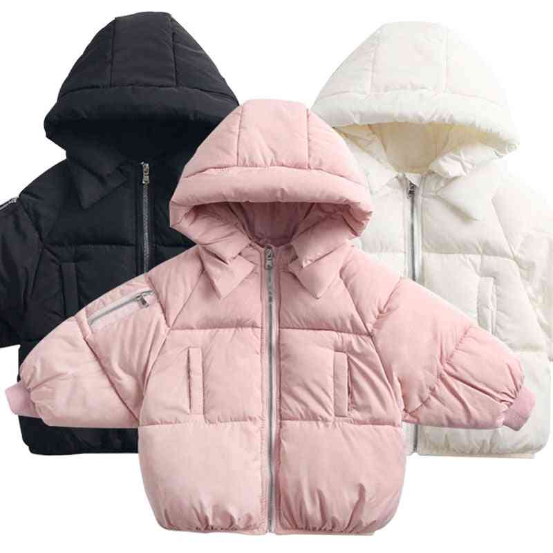 Children's Casual Outerwear Coat, Winter Warm Hooded Jacket
