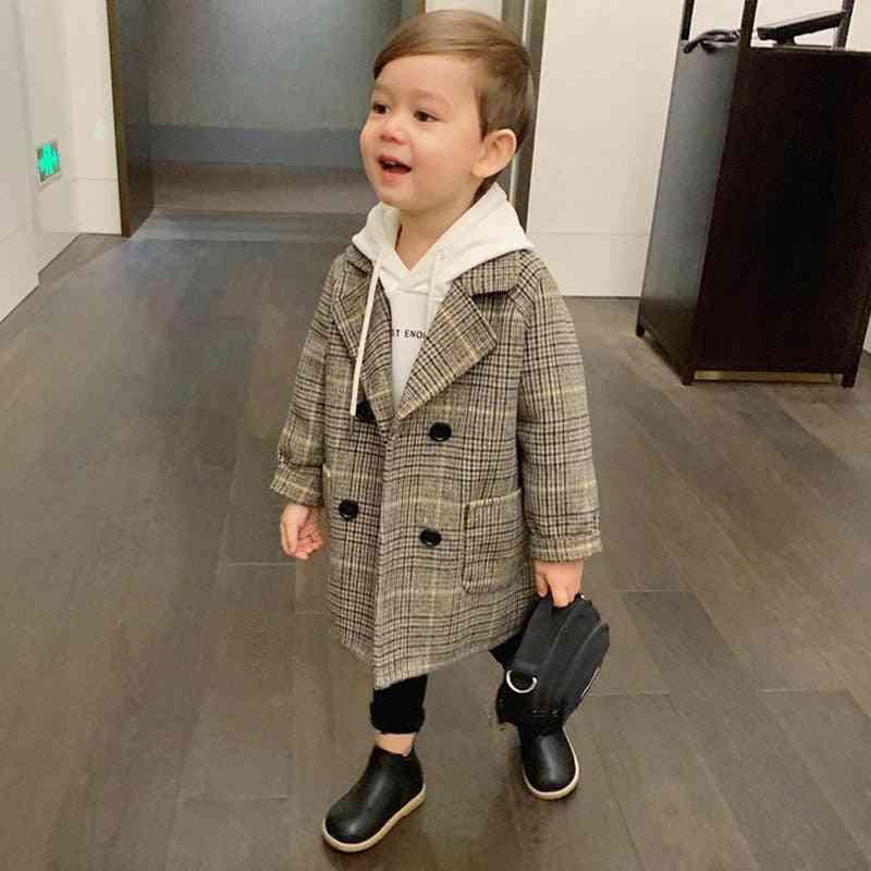 Children Wool Coat For, Autumn & Winter Overcoat