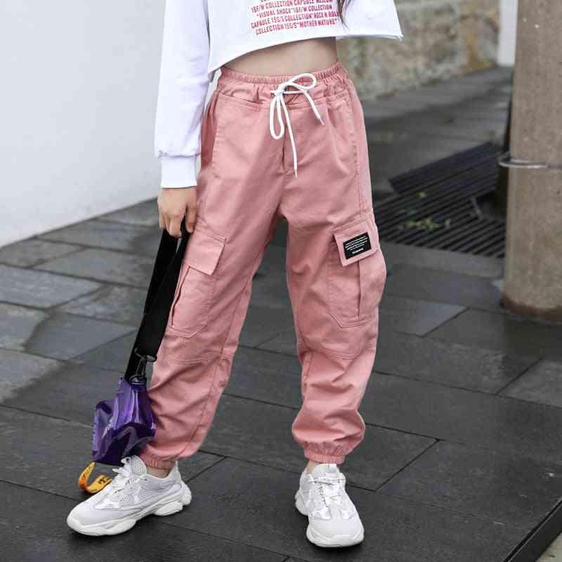 Cotton Cargo Pants, Multi-pocket Sweatpants- Elastic Clothes