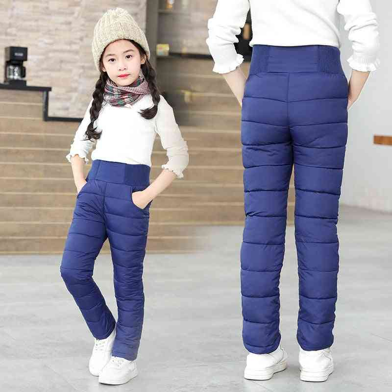 Boys & Winter Pants- Cotton Padded Thick Warm Trousers, High Waist Leggings Baby