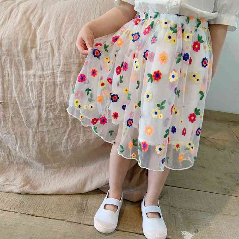Summer Korean Embroidered Skirt
