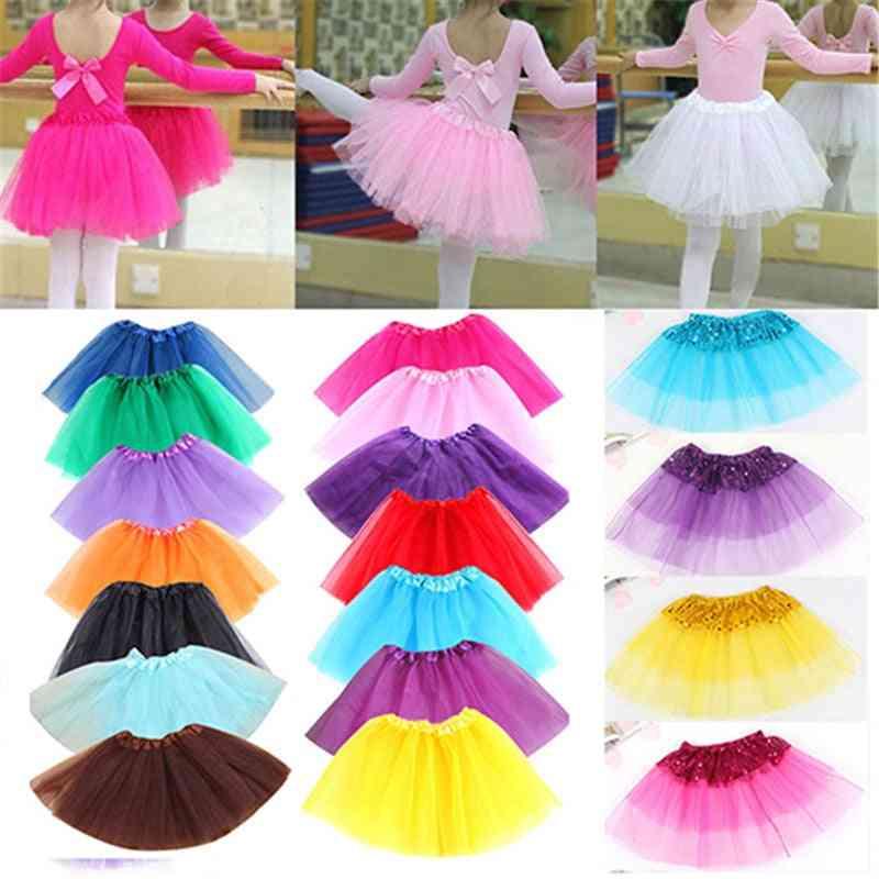 Cute Girl Dance Wear Tulle Sequin Princess Tutu Skirt