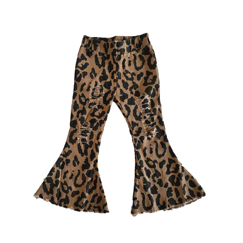 Girl Fashion Fall Bell, Leopard Print Pants