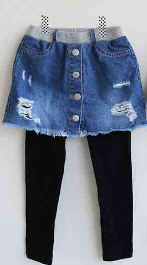 Kids Broken Hole Pants- Cave Jeans