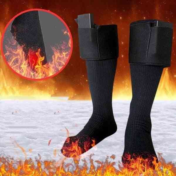 Warm Electric Heating Socks, With Battery Operated Long