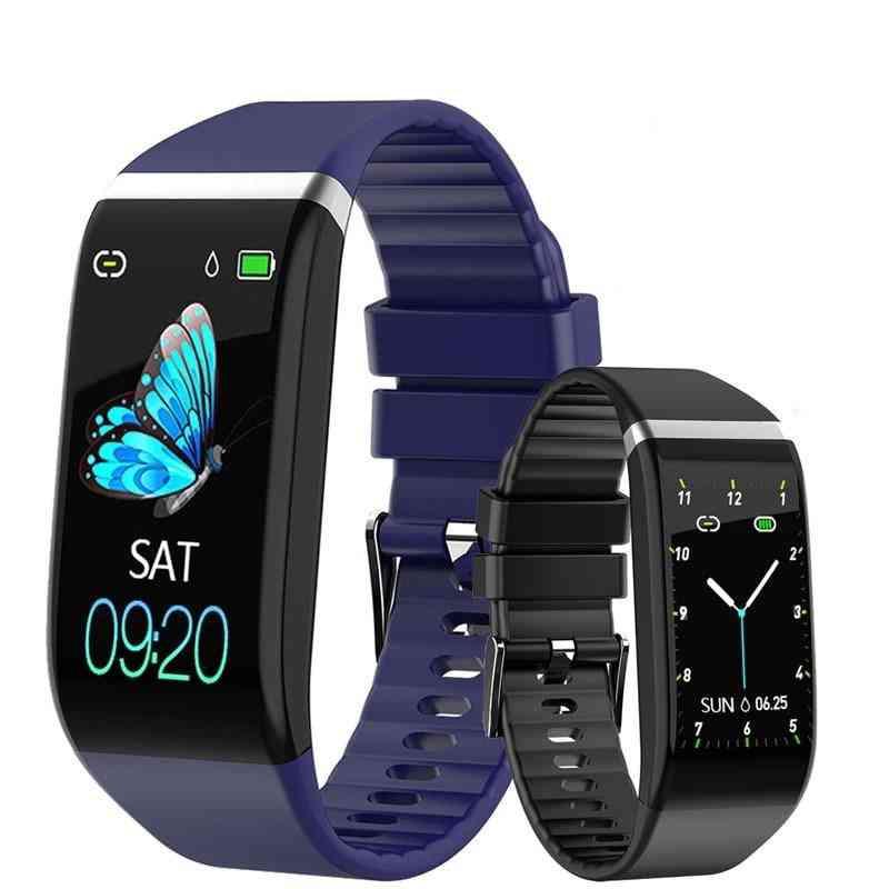 Smart Band - Blood Pressure 1.14'' Screen Fitness Tracker Heart Rate Bracelet, Waterproof Music Control