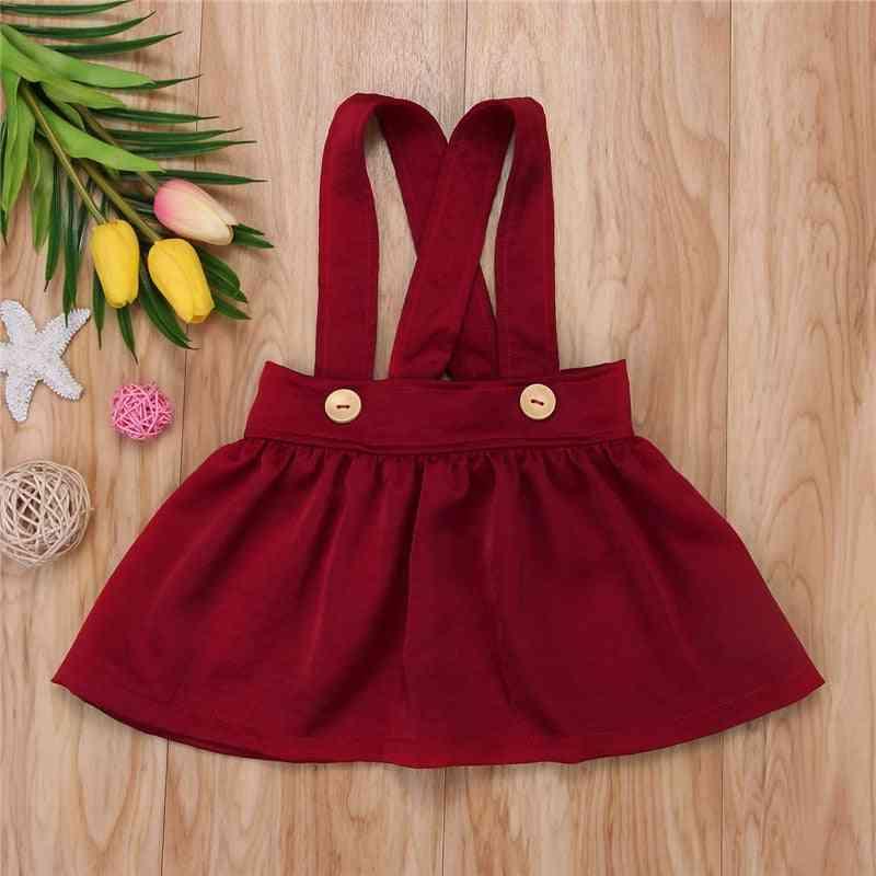 Baby Girl Suspender Skirt Overalls, Rompers