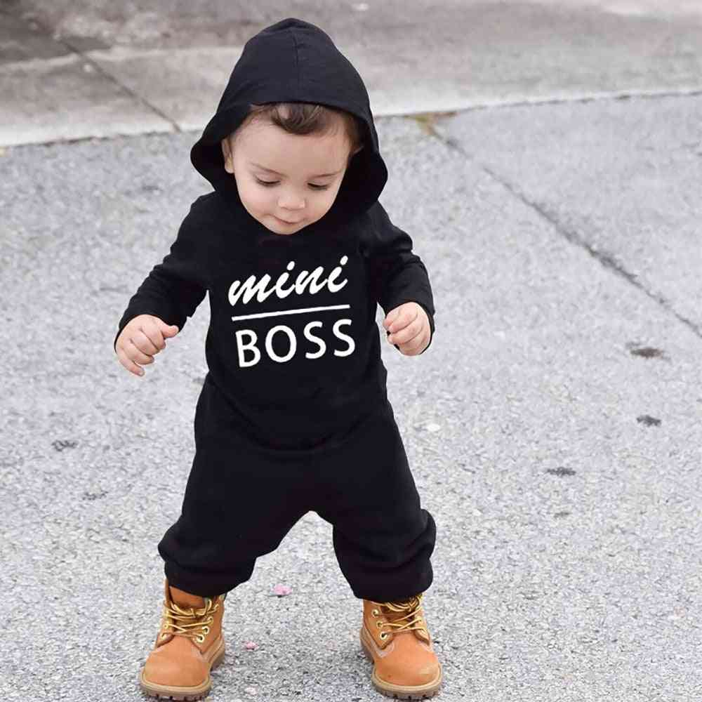 Spring & Autumn Hoodies, Baby Letter / Romper Jumpsuit, Long Sleeves Clothes
