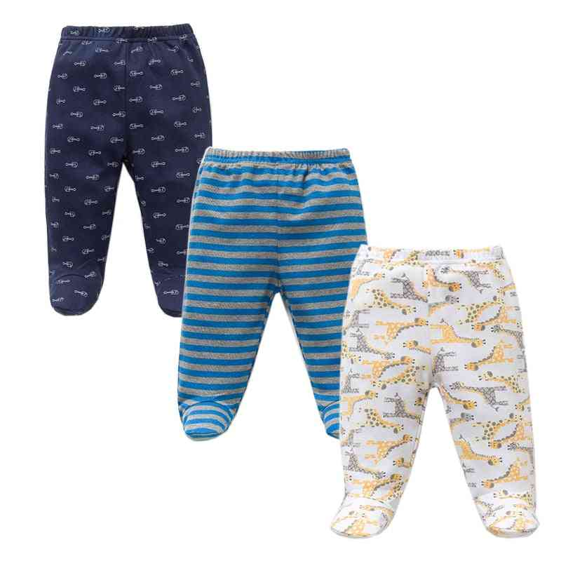 Footed Baby Pants, 100% Cotton Clothes