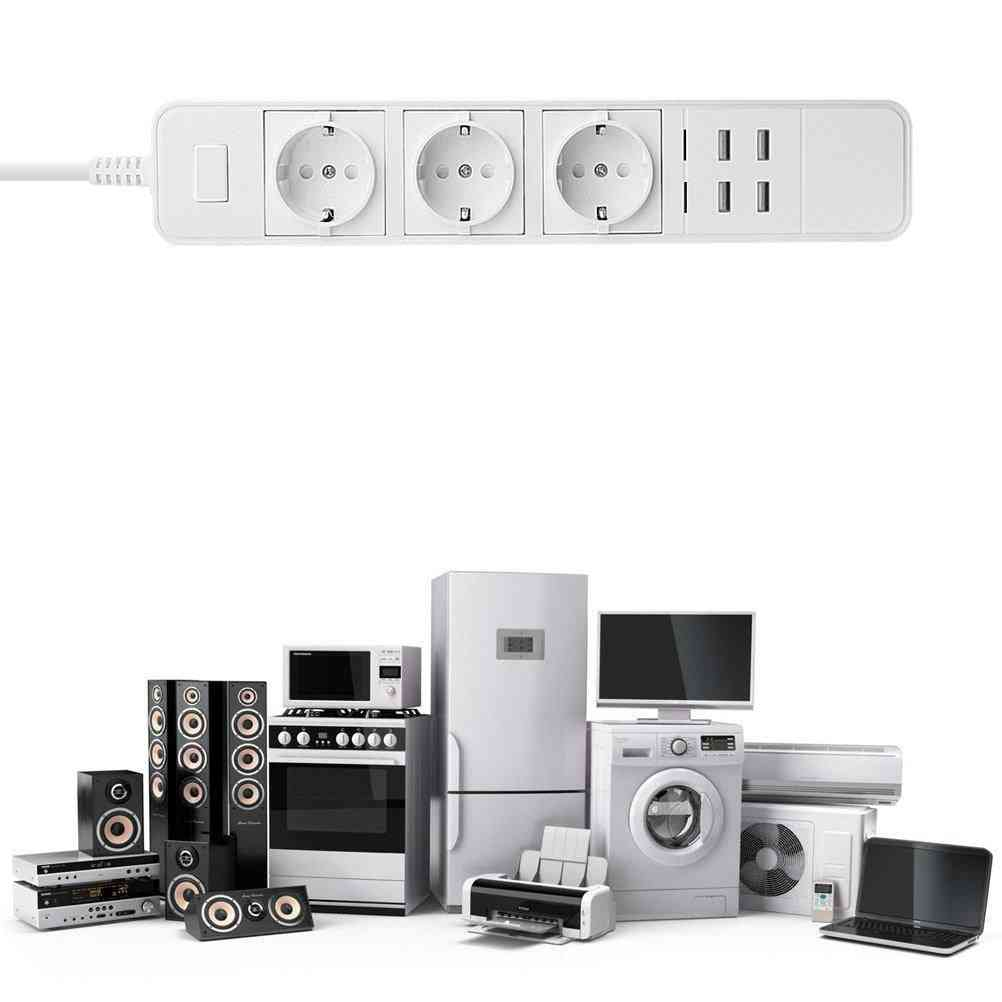Smart Wifi Power Strip With 3 Sockets And 4usb Ports