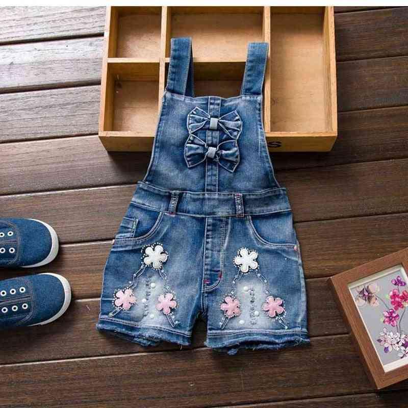 Cute Sweet Fashion Washed Jeans, Denim Romper Jumpsuits, Straps Short Pants Cowboy
