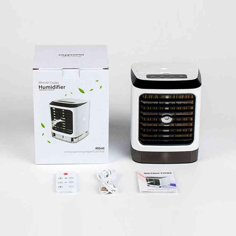 Air Conditioner Desktop With Remote Control Aircooler Fan Humidifier