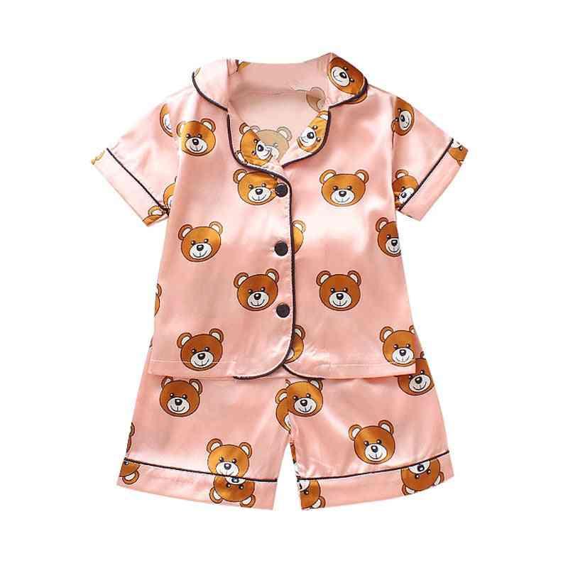 Baby Pajama Sets, / Cartoon Bear Print Outfits