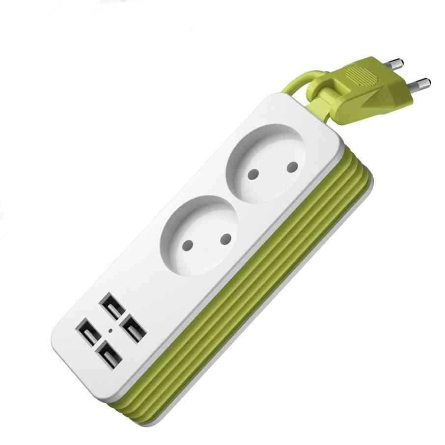 1200w 250v,1.5m Cable-power Strip With 1/2 Socket And 4 Usb Port