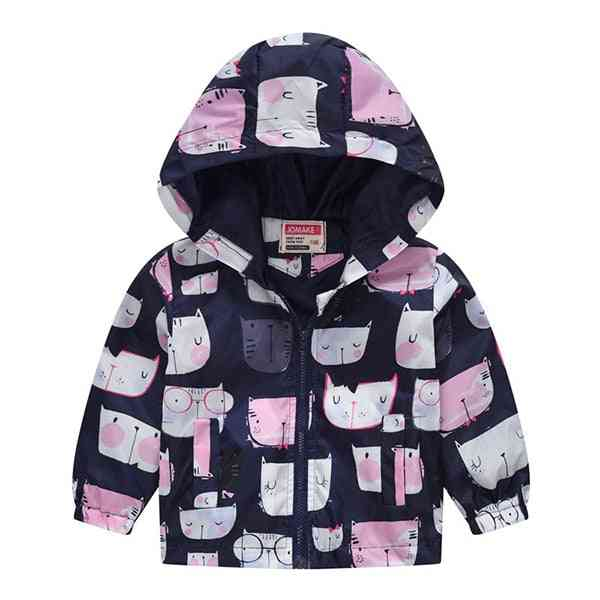 Spring & Autumn Casual Jackets, Outerwear Fashion Printing Windbreaker, Clothing Cute Coat