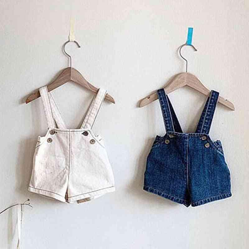 Kids Overalls Shirts Style, Girls Denim Boys Playsuit