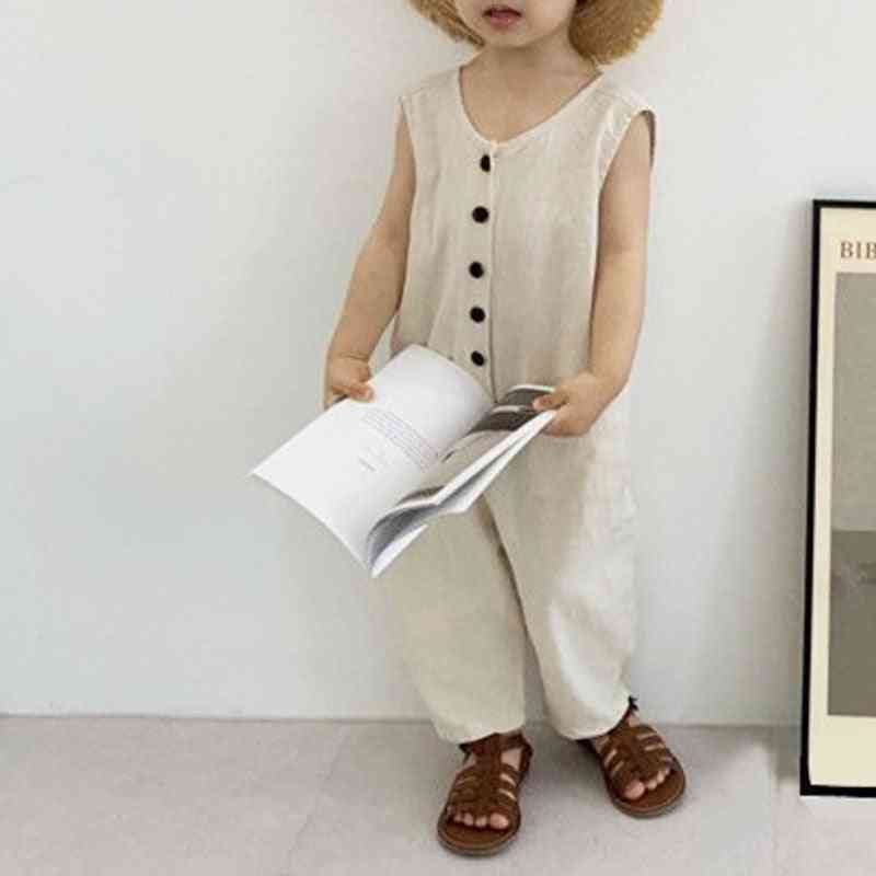 Sleeveless Jumpsuit Outfit For Kids