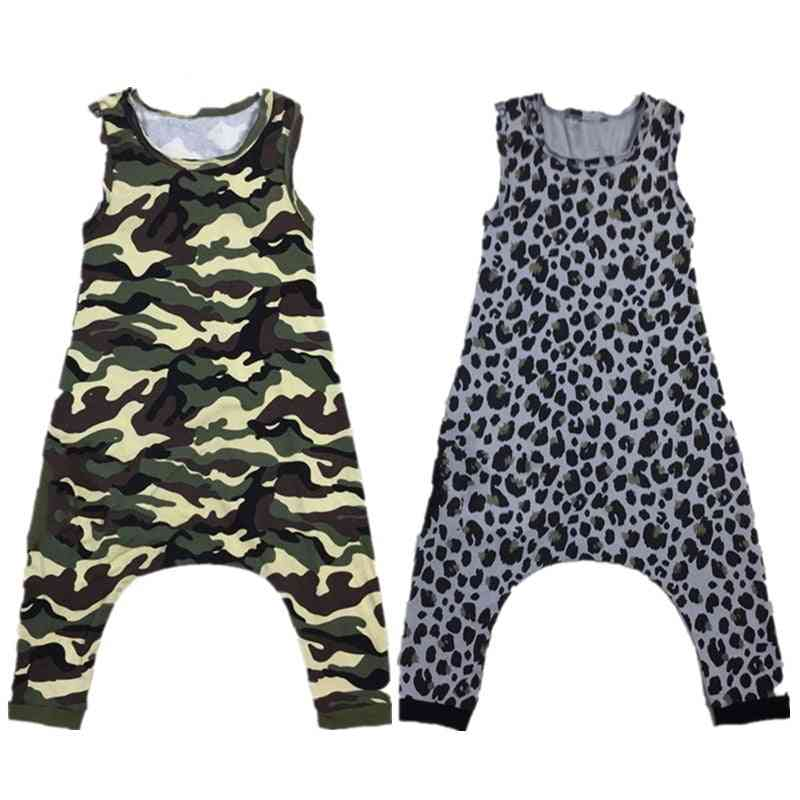 Baby Rompers, Leopard Camouflage Short, Jumpsuit