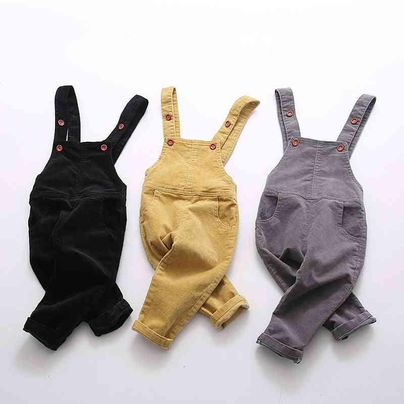 Baby Boy Girl Velvet Knitted Overalls Pants - Toddler Soft Jumpsuit