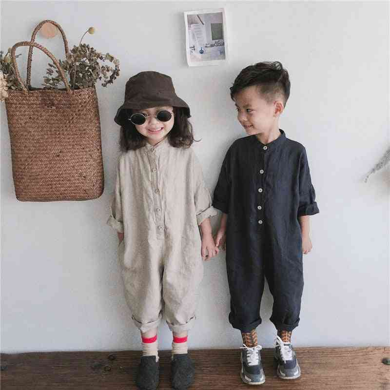 Spring & Autumn Overalls Cotton Linen Loose Trousers, Baby / Jumpsuits, Clothes