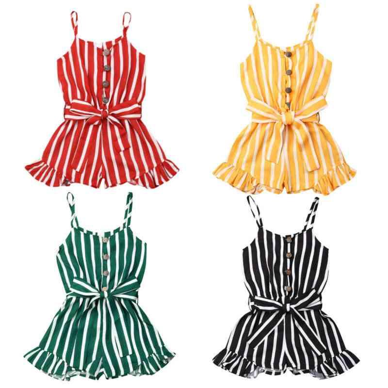 Sleeveless Striped Jumpsuit, Summer Overalls Playsuit