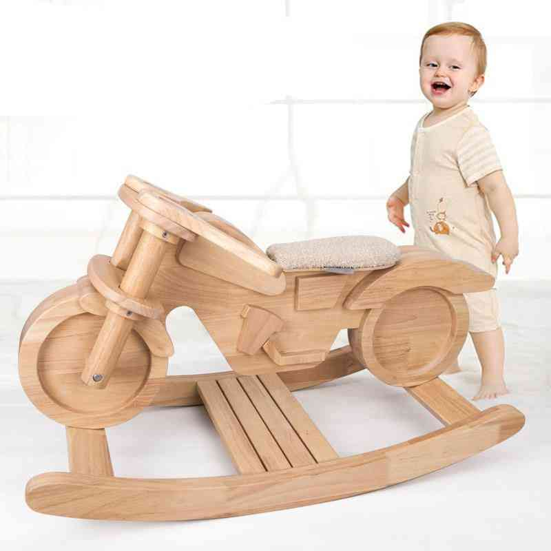 Solid Wooden Rocking Horse For Kids